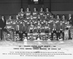 1987 88 Oshawa Kiwanis Major Midget AAA Hockey Team
